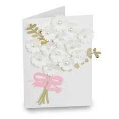 Silhouette Design Store - View Design #118901: bouquet folded wedding card