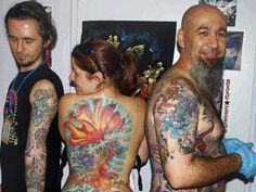 TATTOO MANIA    Foreign visitors display tattoo on their bodies at India International Tattoo Convention at Surajkund