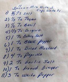 KFC Recipe