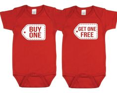 Outfit Your Twins in These Adorable Onesies: Buy One Get One Free Onesies