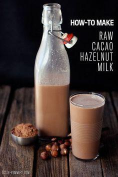 How-to Make Raw Cacao Hazelnut Milk aka Nutella Milk - Best Ever // Tasty Yummies