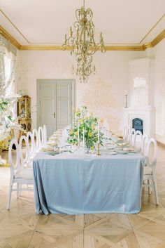 Let's get to the good stuff. This Prague chateau wedding inspiration is teeming with spring pastels, romantic fashion and a plethora of bright daffodils that give it just the right amount of whimsy. Forest Wedding Reception, Tent Reception, Rooftop Wedding, Luxe Wedding, Ballroom Wedding, Wedding Reception Decorations, Chateau Wedding Inspiration, Daffodil Wedding, Romantic Fashion