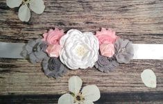 Check out White Gray and Pink with Pink Roses on White Sash Maternity Sash / Maternity Belt / Pregnancy Sash / Gender Reveal / Baby Shower / Photos on princessesdesign Baby Shower Sash, Grey Baby Shower, Baby Shower Photos, Baby Shower Gender Reveal, Girl Shower, Bridal Shower, Maternity Photo Props, Maternity Sash, Newborn Photo Props