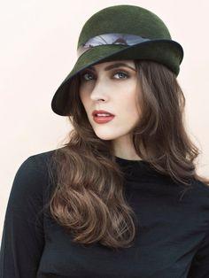 The Gisella Winter Cloche Hat Asymmetrical Brim Style