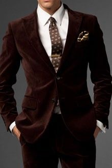 The Borsalino Brown Velvet Suit | Indochino Wow...hard to pull off velvet.  But, this is cool!!