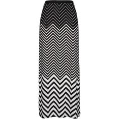 Chevron print pull on maxi skirt ($34) found on Polyvore