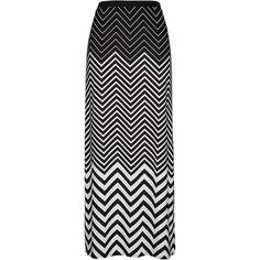 Chevron print pull on maxi skirt ($34) found on Polyvore