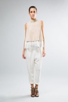 Fashion runway| Brunello Cucinelli, Spring 2015 Ready-to-Wear | http://www.theglampepper.com/2014/10/23/fashion-runway-brunello-cucinelli-summer-spring-2015-rtw/