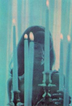 Vintage girl with candles (from horror film)? Mode Queer, Sublime Creature, Mystique, Blue Aesthetic, Aesthetic Pictures, Art Inspo, Art Reference, Cool Photos, Art Photography