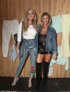 Denim darlings: Australia's Next Top Model starSimone Holtznagel (L) and modelSamantha H...