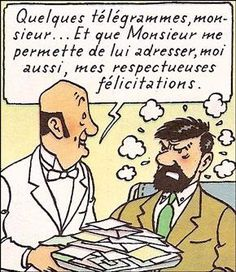 Les félicitations de Nestor • Captain Haddock and Nestor at Marlinspike Hall • Tintin, Herge j'aime