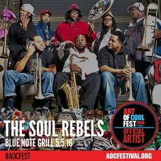 #TheSoulRebels #AOCFest NO COVER! Come dance with us.