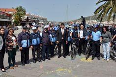 Bisikletli Zabıta Timi, Foça'da görev başında - Çınar Haber Ajansı