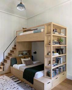 Home Room Design, Home Interior Design, Small Room Design Bedroom, Bedroom Modern, 4 Bedroom House Designs, Space Saving Bedroom, Eclectic Bedrooms, Loft Design, Storage Design