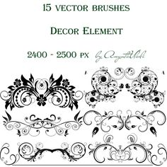 Free Download Swirls Vector Decorative Brushes For Photoshop