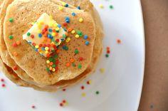 up top sprinkle pancakes