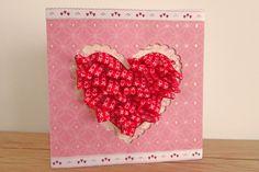 How to Make a Pleated Valentines Card by Alex Jardine #Valentines #CardMaking #CraftChallenge