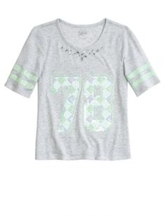 Embellished Football Tee