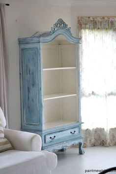 Refurbished Armoire ~ you can try milk paint! Look for armoires at consignment shops. Refurbished Armoire ~ you can try milk paint! Look for armoires at consignment shops. Refurbished Furniture, Repurposed Furniture, Painted Furniture, Painted Armoire, Primitive Furniture, Furniture Projects, Furniture Making, Cool Furniture, Furniture Design