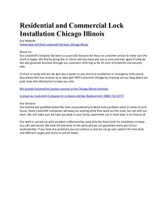 barres de branchement Chicago