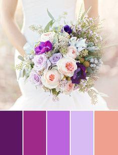 fall wedding bouquet flower ideas with shades of purple colors for 2014 #elegantweddinginvites