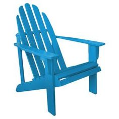 "Lounge in classic style with on this eye-catching turquoise Adirondack chair, the perfect addition to your patio or veranda seating group.  Product: Adirondack chairConstruction Material: Cedar woodColor: TurquoiseFeatures: Suitable for indoor and outdoor useDimensions: 36"" H x 25.75"" W x 33"" D"
