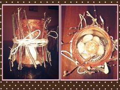 Autumn candle #candle #autumn #glitter