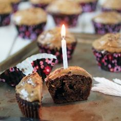 """""""The Reese's Cupcake"""" Chocolate Chocolate Chip Cupcakes with Sunbutter Frosting"""