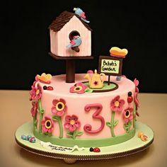 Birdhouse birthday cake (Jessicakes)