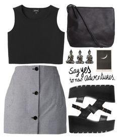 """""""Further"""" by julia2508 ❤ liked on Polyvore featuring moda, Carven, Monki y Pieces"""