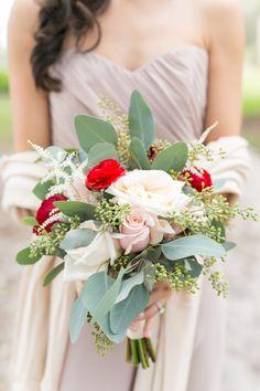 Rose and astilbe wedding bouquet: http://www.stylemepretty.com/florida-weddings/howey-in-the-hills-florida/2017/02/13/elegant-romantic-chinese-new-year-affair/ Photography: Amalie Orrange - http://amalieorrangephotography.com/