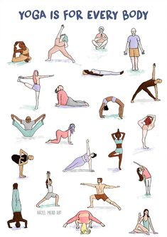 Print on white recycled boardSmash the stereotypes and preconceptions, yoga is for EVERY body! Pranayama, Namaste, Yoga Style, Yoga Illustration, Yoga Art, Yoga For Weight Loss, Yoga Tips, Yin Yoga, Yoga Flow