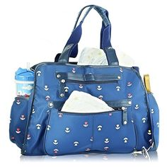 Next Mommy Baby Diaper Bag with Changing Pad Stroller Clips and Shoulder Strap Blue *** You can get more details by clicking on the image. Large Diaper Bags, Baby Diaper Bags, Best Backpack Diaper Bag, Weekender Tote, Tote Bag, Baby Changing Pad, Cool Backpacks, Baby Accessories, Baby Gear