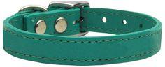 Plain Leather Collars Jade 26