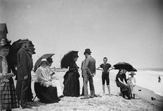 Stokemus, New Jersey, USA, August 1886. #Victorian #beach #summer