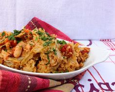 Bulgur and White Bean Bake with Cabbage and Tomatoes from One-Dish Vegan
