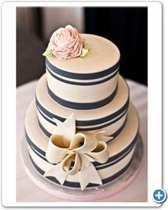 bruidstaart-zwart-roze