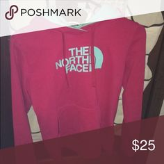 Pink North Face Hoodie lightly worn, still in good condition! North Face Jackets & Coats