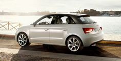 Audi A1 Sportback Sport in white on road