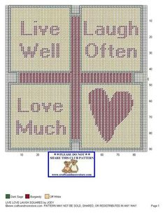Live laugh love squares