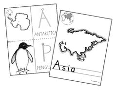 From Handwriting Without Tears: free printable continent pages with suggested activities for grades PreK through 4.
