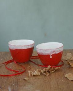 Tea cups- very nice red!
