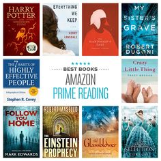 Harry Potter tops the list of most popular Kindle books available via Prime Read. Top Books To Read, Good Books, The Handmaid's Tale Book, Best Free Kindle Books, Best Fiction Books, Science Fiction, Thriller Books, Book Club Books, Book Clubs