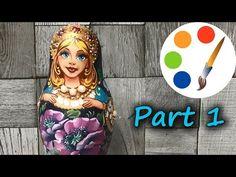 Painting Matryoshka doll (babushka dolls), part 1 Matryoshka Doll, Kokeshi Dolls, Hama Beads Minecraft, Perler Beads, Cool Minecraft Houses, Minecraft Skins, Minecraft Buildings, 3d Origami, Hobby Shop