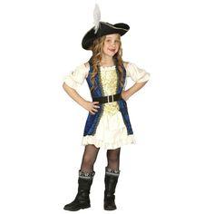 Piraten kapitein jurk voor meisjes. Carnavalskleding 2016 #carnaval
