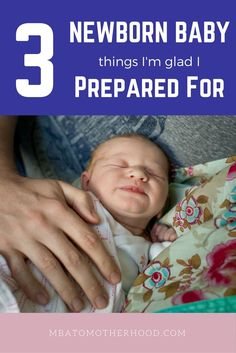 The 3 Newborn Things I'm Glad I Prepared For - MBA to Motherhood. Now my baby girl is approaching 2 weeks old, I've reflected on the things I prepared for during pregnancy that have helped make our first two weeks at home easier.