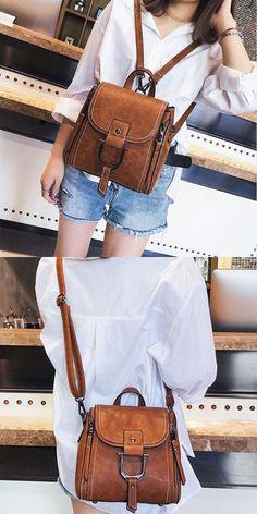 fb15ac8e7e68 Elegant Multi-function Leather Small Messenger Bag Shoulder Bag Mini  Backpack  backpack  Bag  school  college