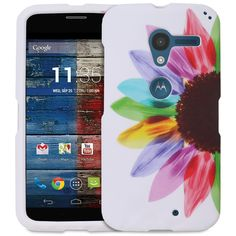 Fosmon MATT-DESIGN Series Slim Fit Rubberized Case Cover for Motorola Moto X 1st Generation (Colorful Sunflower):Amazon:Cell Phones & Accessories