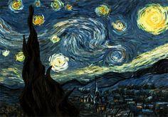 "Ha ha. I'm calling this, ""Starry Night A-Go-Go"""