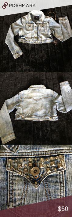 "Studded Jean Jacket ""Soho Babe"" Large 💕🍀💕🍀💕 ABSOLUTELY GORGEOUS ON!!!  True to Size!  💕🍀💕🍀💕 Soho Apparel Jackets & Coats Jean Jackets"